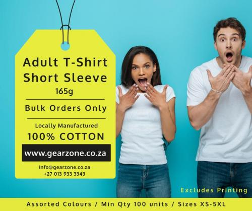 Men's and Ladies Short Sleeve T-shirts